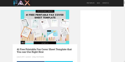 Infobits Com Fax Cover Sheet Template